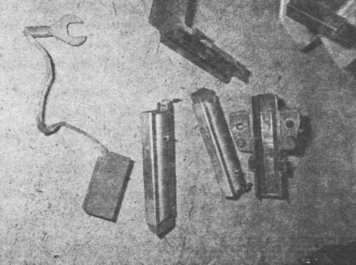 на рисунке справа— от мотора стиральной машины, слева — щетки электроинструмента