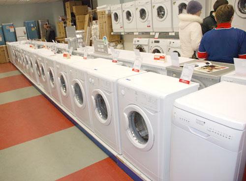 стиральные машины в магазинах и торговых сетях