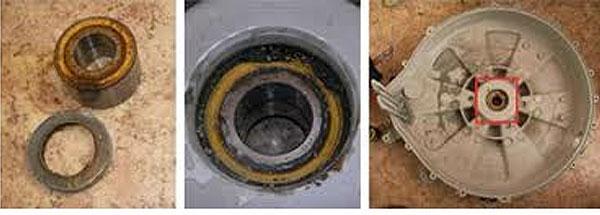 причина вибрации- износ подшипников стиральной машины