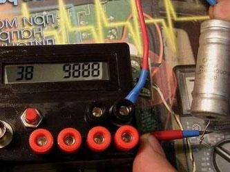 проверка ёмкости пускового конденсатора