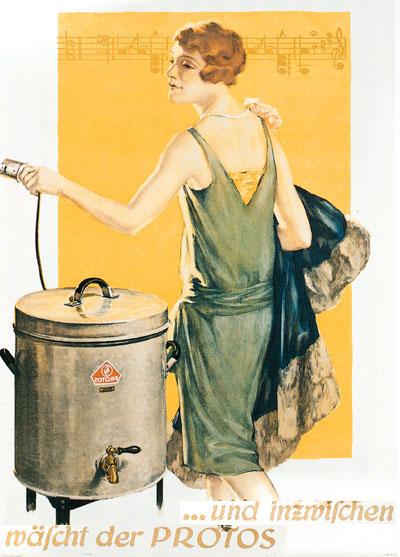 Реклама стиральных машин Protos «Сименс»: «… а в это время машина Protos стирает»