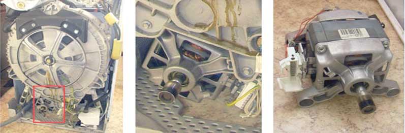 съем двигателя нужно производить аккуратно
