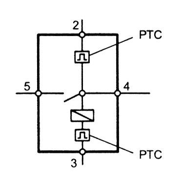 На рисунке- электрическая схема термозамка с электрическим магнитом