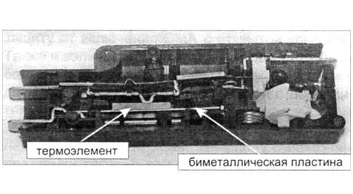 Рисунок: замок, плоский термоэлемент, контакты сбоку