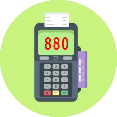 минимальный чек 880 - 8 80 руб.