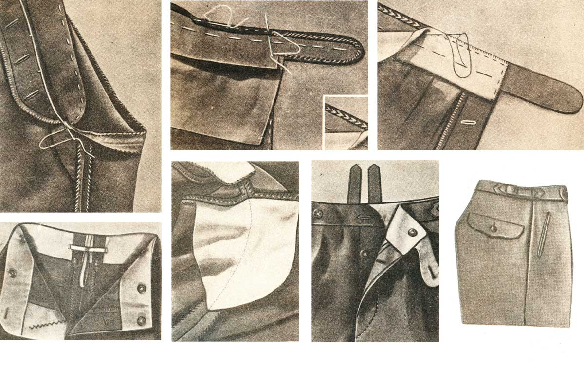 Как сделать карманы на штанах 614
