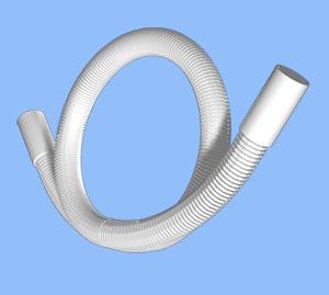 PS100 шланг сливной для стиральной машины 100 см  Tuboflex